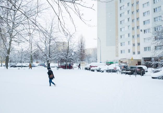 gdańsk żabinka; śnieg; snow