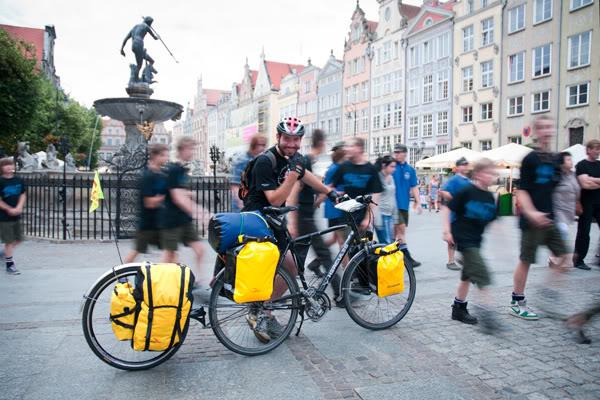 Jan Faściszewski; Lipiec; 2011; Gdańsk; rower; wyprawa; uniwersytet gdański; Bartłomiej Wysocki; Motława; Żuraw; bike, Gdansk, Danzig,