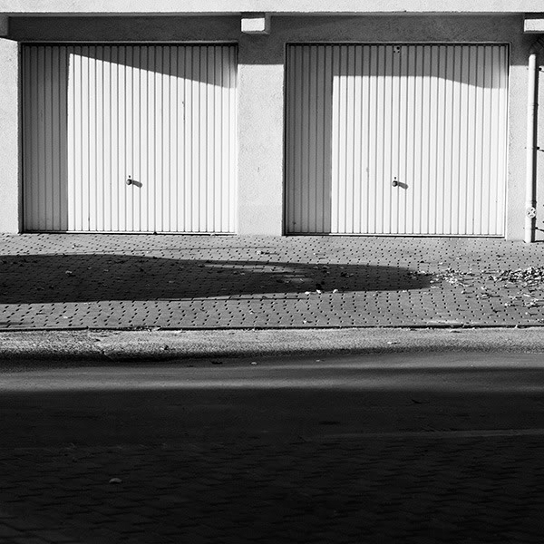 Garaże, Garages, Cinie, Shadows, Nic, nothing