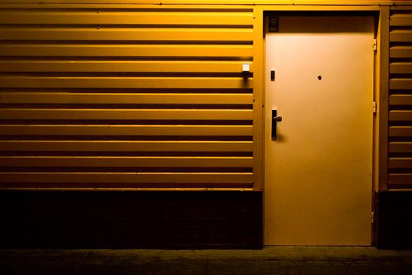 drzwi, noc, door, night