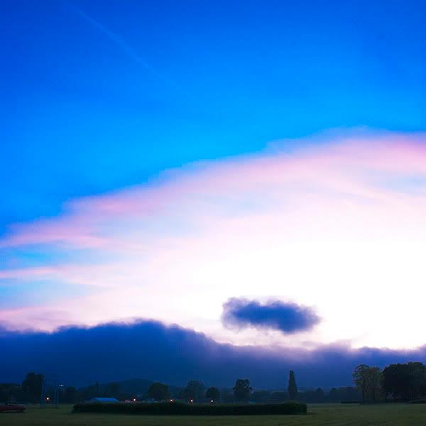 Zachód słońca, sunset, niebo, sky, chmury, clouds