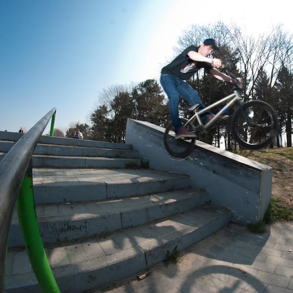 bmx, skatepark, murek, wall, fisheye