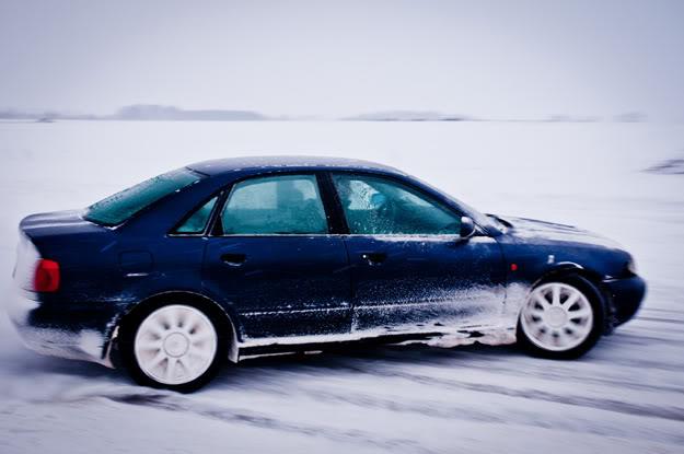 Łepek, Rękowo, Samochód, Car, Śnieg, Snow