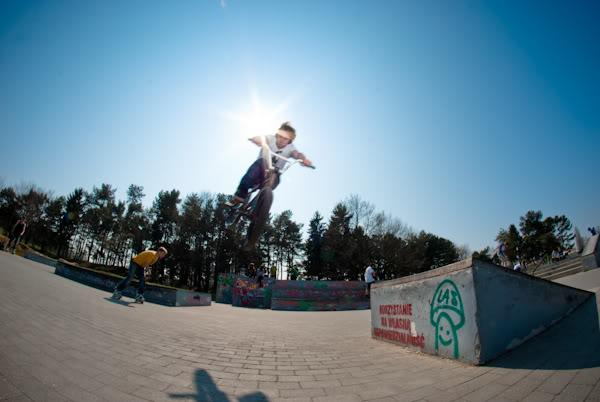 bmx, skatepark, kicker, fisheye
