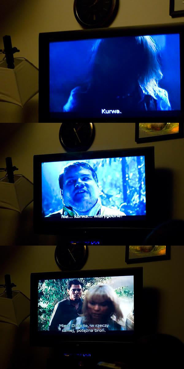 Telewizor, Television, Lesbian Vampire killers, cytaty, quotes, miecz dildo, dildo sword