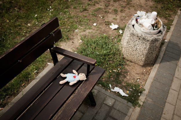 misio; kosz; teddy; trash