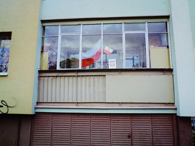 Flaga; Flag; Polska; Poland; Dzień niepodległości; indenpedence day; Balkon; balcony