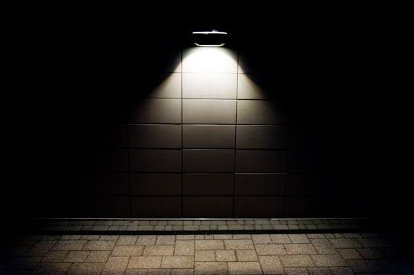 lampa, lamp, light, światło, ściana, wall