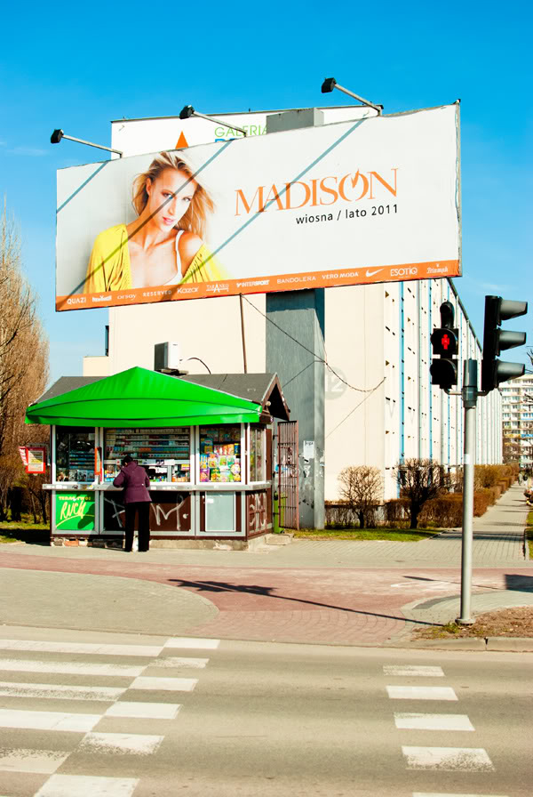 Przymorze; primore; billboard; kiosk; madison