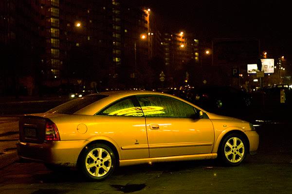 car, night, samochód, noc, biedronka