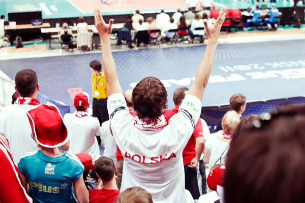 Mecz; Match; Polska; Poland; Rosja; Russia; Kibice; Fans;  Ergo; Arena; Gdańsk; Sopot; Lipiec; 2011; Siatkówka; Volleyball