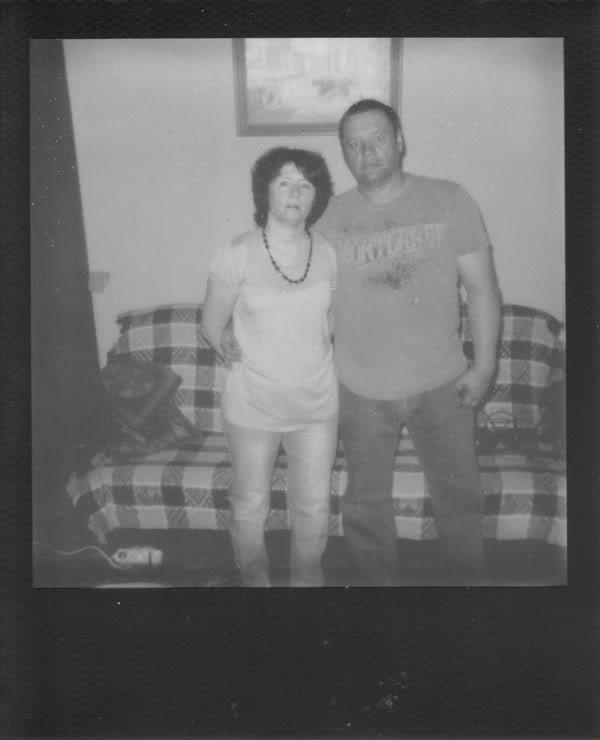 Rodzice; polaroid