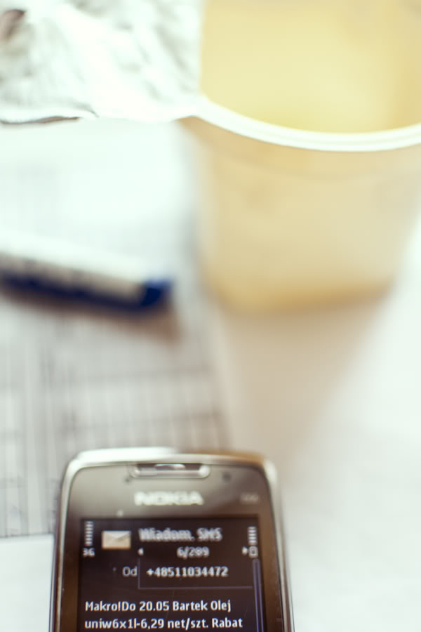 komórka, mobile, jogurt, yogurt, sms
