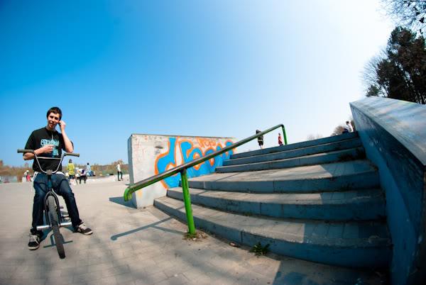 bmx, skatepark, rura, poręcz, rail, Rafał Pieśniak, fisheye